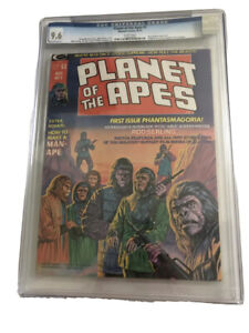 Planet of The Apes #1 Aug 1974-CGC 9.6 Marvel Magazine WHITE pages-Rod Serling