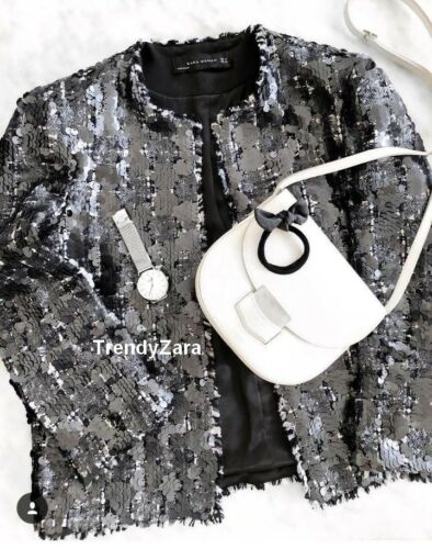 Paillettes Chaqueta Lentejuelas Tweed Zara Ss18 S 2761 Ref Jacket 251 85fqxqwz