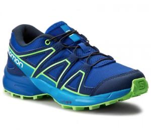 Salomon Speedcross J Older Kids   Youth Blue Trail Running Shoes ... 7827f2d74ef