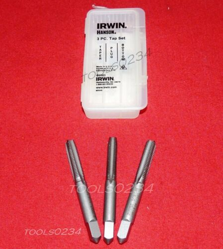 Irwin 2629 5//16-24 NF Carbon Steel Tap Set 3PC Taper Plug /& Bottom USA Made
