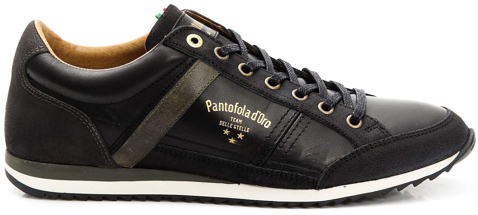 shoes Sneakers Pelle men Pantofola d'gold shoes Men Matera Low black 10183027