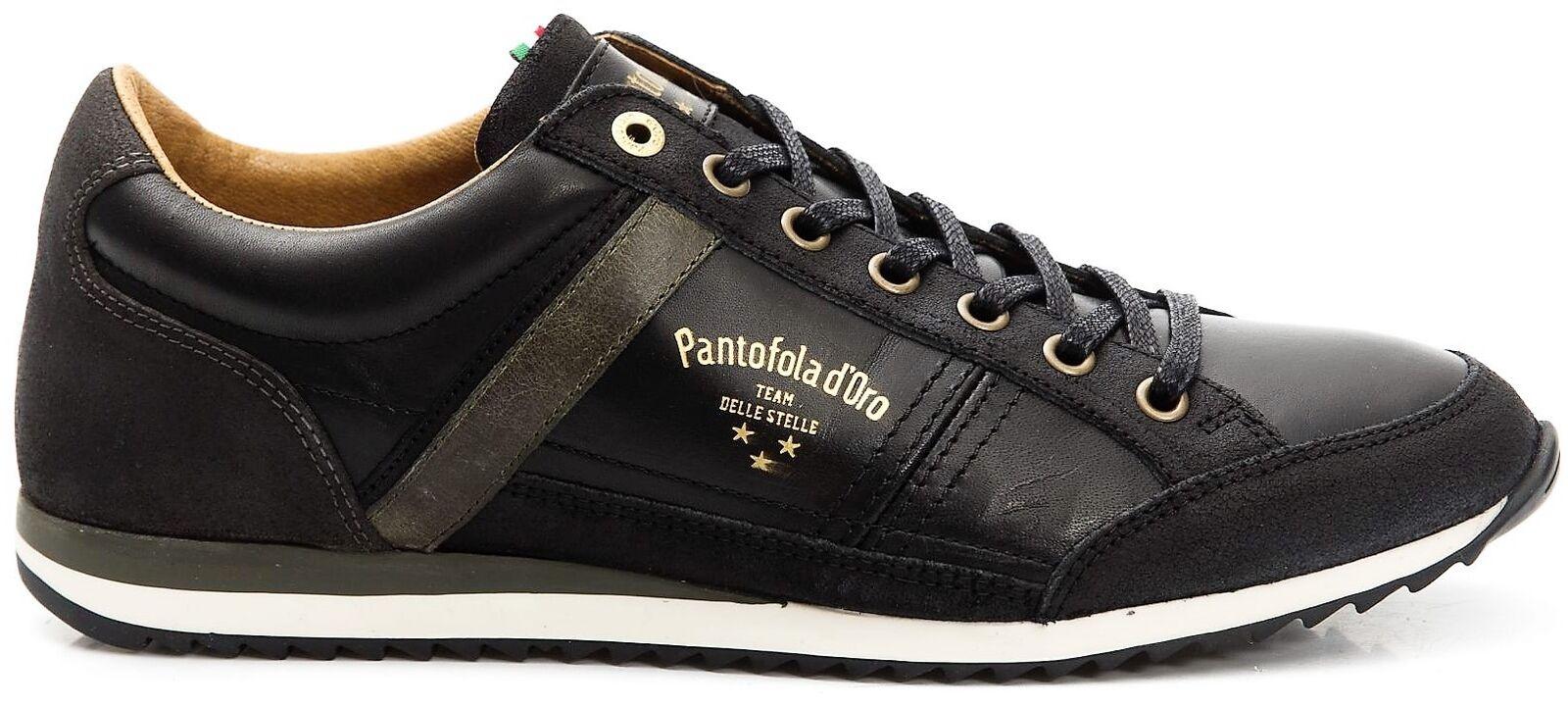 Scarpe scarpe da ginnastica Pelle Uomo Pantofola d'oro scarpe Uomo Matera Low nero 10183027