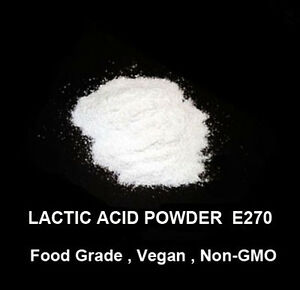 20g of Food grade Lactic acid Powder    –   Vegan , Gluten Free , Non-GMO