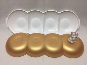 C154-Allegra-Allegra-Perle-Servierschale-Deckel-Gold-Tupperware-Neu-und-OVP
