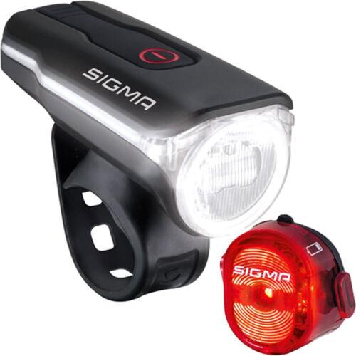 Sigma Set Aura 60 USB /& Nugget II 60 Lux schwarz rot Fahrrad