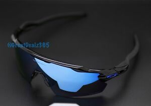 d3d3408a5f CUSTOM OAKLEY RADAR EV POLISHED BLACK PRIZM DEEP WATER POLARIZED PITCH BLUE  ICON