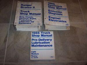 1985 Ford Ranger Bronco II Pickup Truck Workshop Shop ...