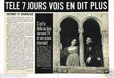 Coupure de presse Clipping 1973 (1 page 1/2) Isabelle Weingarten Didier Valle