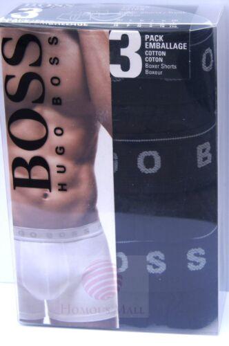 1 of 1 - 3 X HUGO BOSS Men's Cotton Boxer Shorts Trunk Underwear NEW