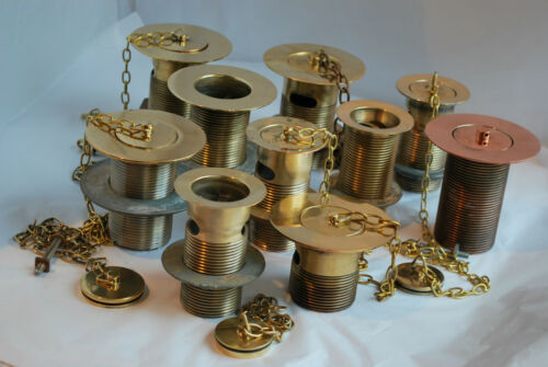 BRASS SLOTTED WASTE /&  PLUG 1 1//2 INCH RECLAIMED REFURBISHED /& READY 2 FIT