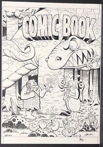 ROGER-LANGRDIGE-Original-Art-NICKELODEON-MAGAZINE-early-2000s-The-Comic-Book