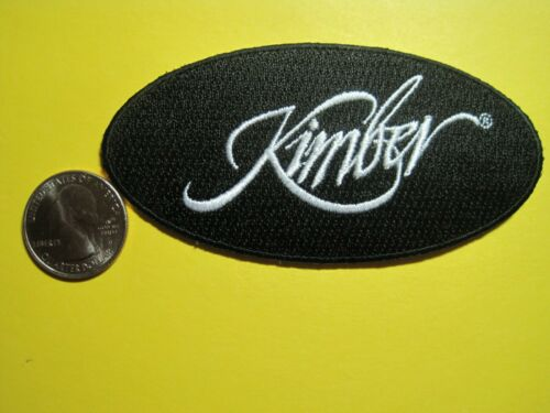KIMBER FIREARMS VEST PATCH SEW ON GUN PATCH 100/% EMBROIDERY 2X4 OVAL LOOK /& BUY!