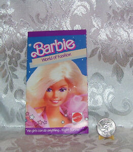 Barbie Doll World Of Fashion Booklet Book Mini Clothes Catalogue Ebay