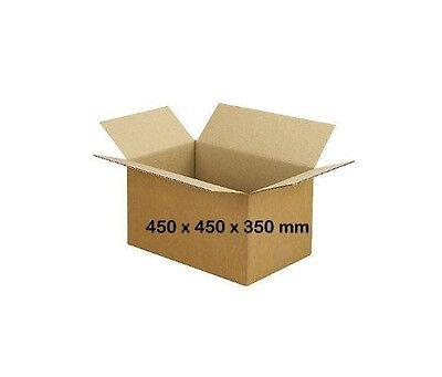 10 Stück Faltkartons 450 X 450 X 350 Mm1-wellig Braun B-welle Neu Kartons Karton