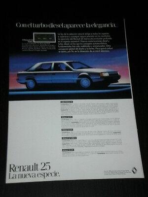 CAR VOITURE COCHE AD ANUNCIO PUBLICITE SPANISH 1305 RENAULT 25