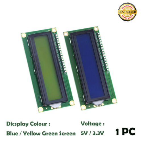 LCD 1602A 5V 16x2 Dot Matrix LCD Display Module Blue Character Black Background