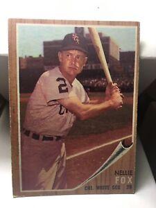 1962 Topps #73 Nellie Fox Chicago White Sox Baseball Card Honkbal