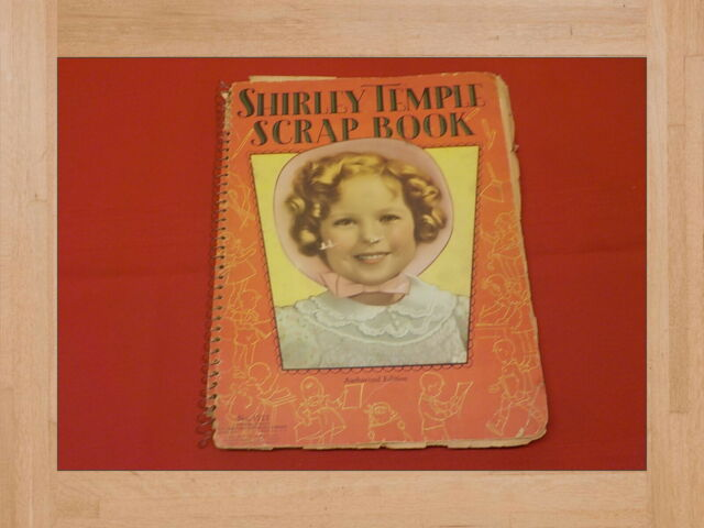 1940s Scrapbook with Shirley Temple Cover and great items from the 40s inside
