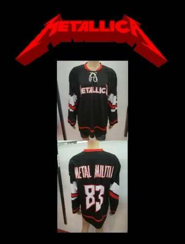 METALLICA Pro Style Hockey Jersey XXXXXL sz 68 5X METAL MILITIA shirt