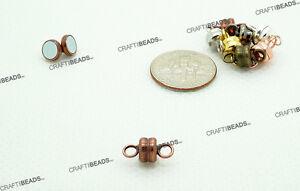 Mini Rondelle Magnetic Connector Clasp - Silver Rose Gold Copper Bronze Gunmetal