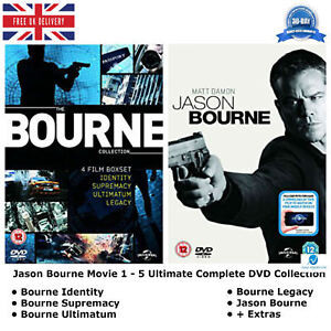 Jason-Bourne-Movie-1-5-Ultimate-Extras-Complete-Collection-1-2-3-4-5-NEW-R2-DVD