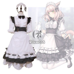 Final Fantasy XIV FF14 Miqo'te Maid Servant Uniform Dress Cosplay