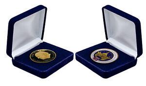 Joe Biden Kamala Harris Président 2021 inauguration Coin Avec Boîte Cadeau Neuf