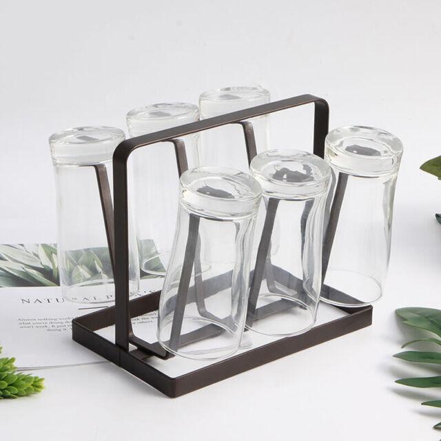 New Kitchen Organizer Glass Bottle Drying Rack Cup Mug Drain Holder Stand Hot US