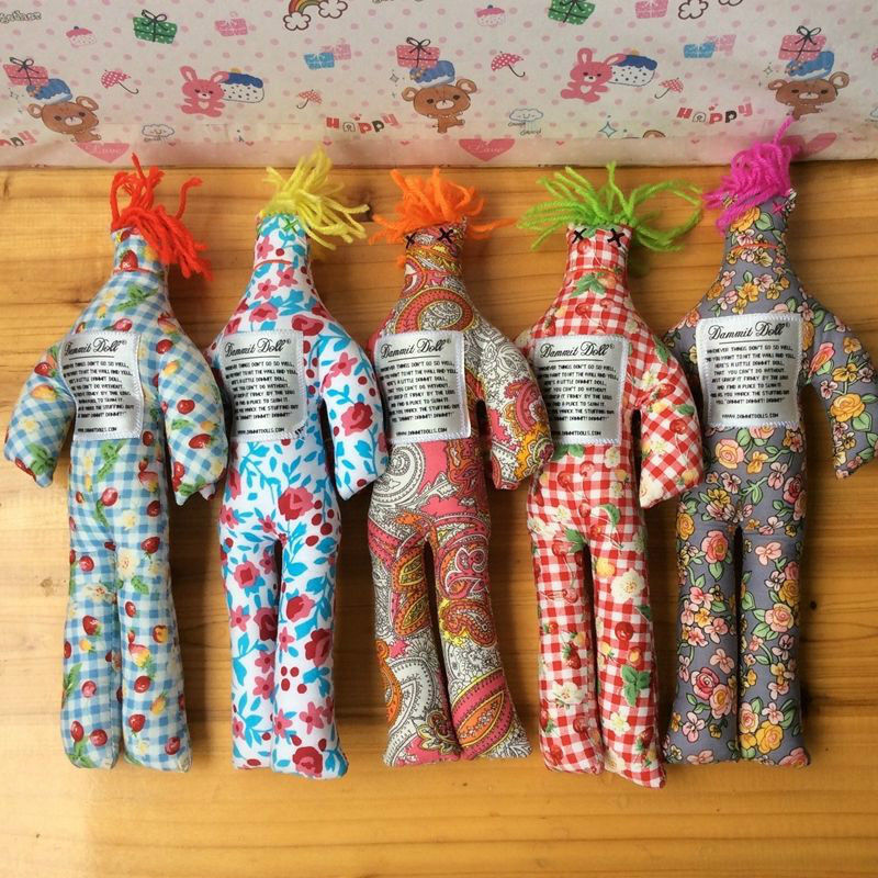 1 5 10PC Random Pattern color Stress Relief 12  Dammit Doll Plush toy Kids Gift
