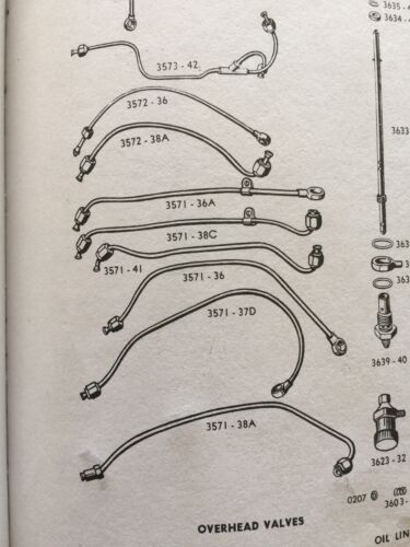 Harley UL ULH UA Oil Line Set Kit 1943-1945 3571-38 3571-38B 3572-38 WPA WWII