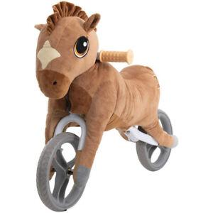 Yvolution My Buddy Wheels Horse Toddler Training Balance Bike With Plush Toy 810012240420 Ebay