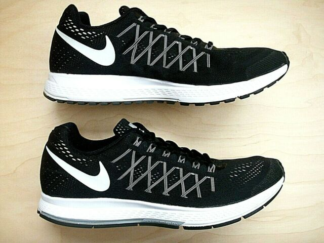 NIKE AIR ZOOM PEGASUS 32 FLYKNIT BLACK WHITE 749344-001 WOMEN'S RUNNING SHOES 12