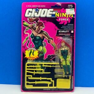 Gi-Joe-Cobra-action-figure-vintage-moc-Hasbro-1992-Ninja-Force-Scarlett-kato-vtg