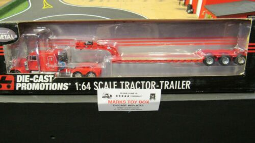 DCP#32650 OWNER OPERATOR PETE 379 SEMI CAB TRUCK W// LOWBOY TRAILER 1:64//CL