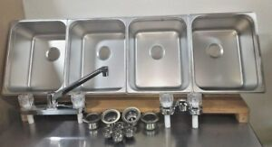 4-Large-Compartment-Concession-Sinks-3-Dish-amp-1-Hand-Washing-Sink