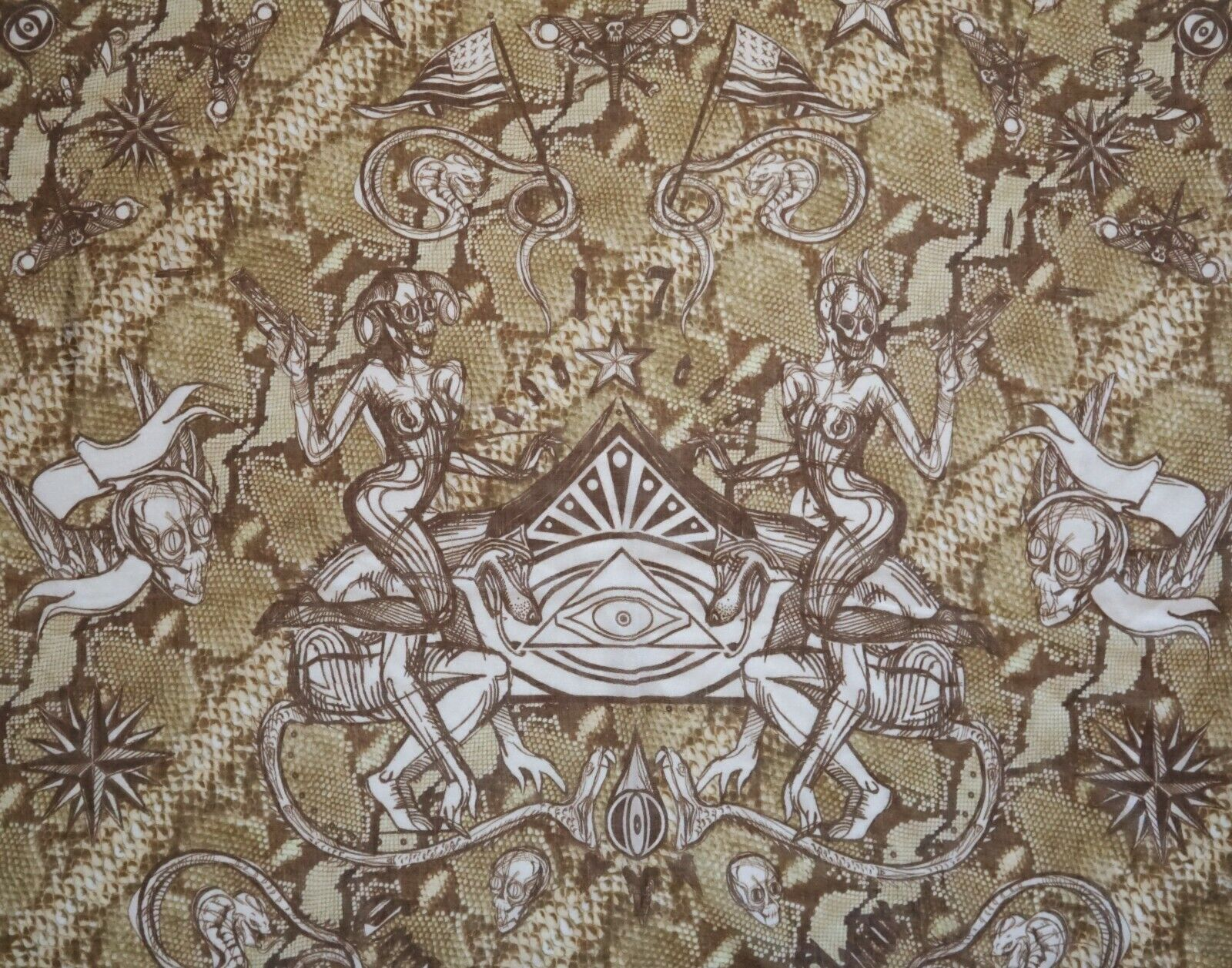NWOT Authentic GIVENCHY SNAKE TATTOO 100% CASHMERE Shawl Scarf