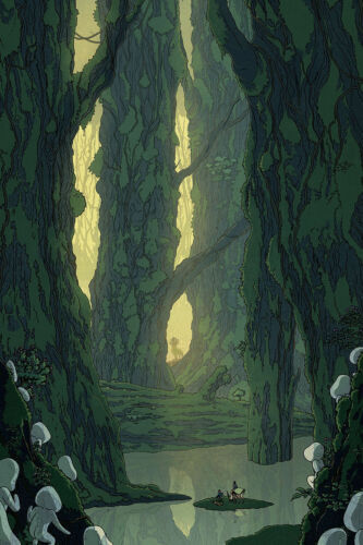 Art Poster Princess Mononoke 20th Anniversary Studio Ghibli 14x21 24x36 Y3517