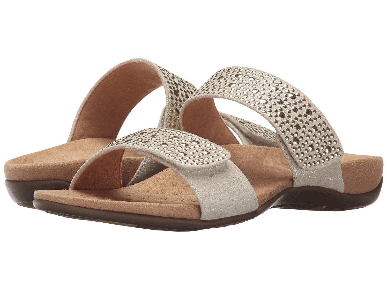 Women Vionic Vionic Vionic Samoa Orthaheel Slide Sandal 341SAMOA gold 100% Original Brand New b9760a