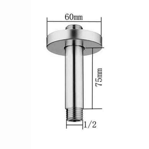 Bathroom Chrome 75MM Round or Rectangular Ceiling Mounted Shower head Arm