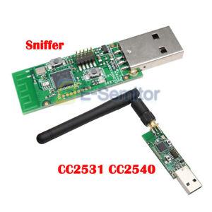 NEW CC2531 USB Bluetooth 4.0 Protocol Analyzer Sniffer With External Antenna