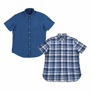 Ralph-Lauren-da-uomo-manica-corta-buttondown-shirt-Casual-Bottoni-nella-parte-superiore-M-L-XL-Nuovo