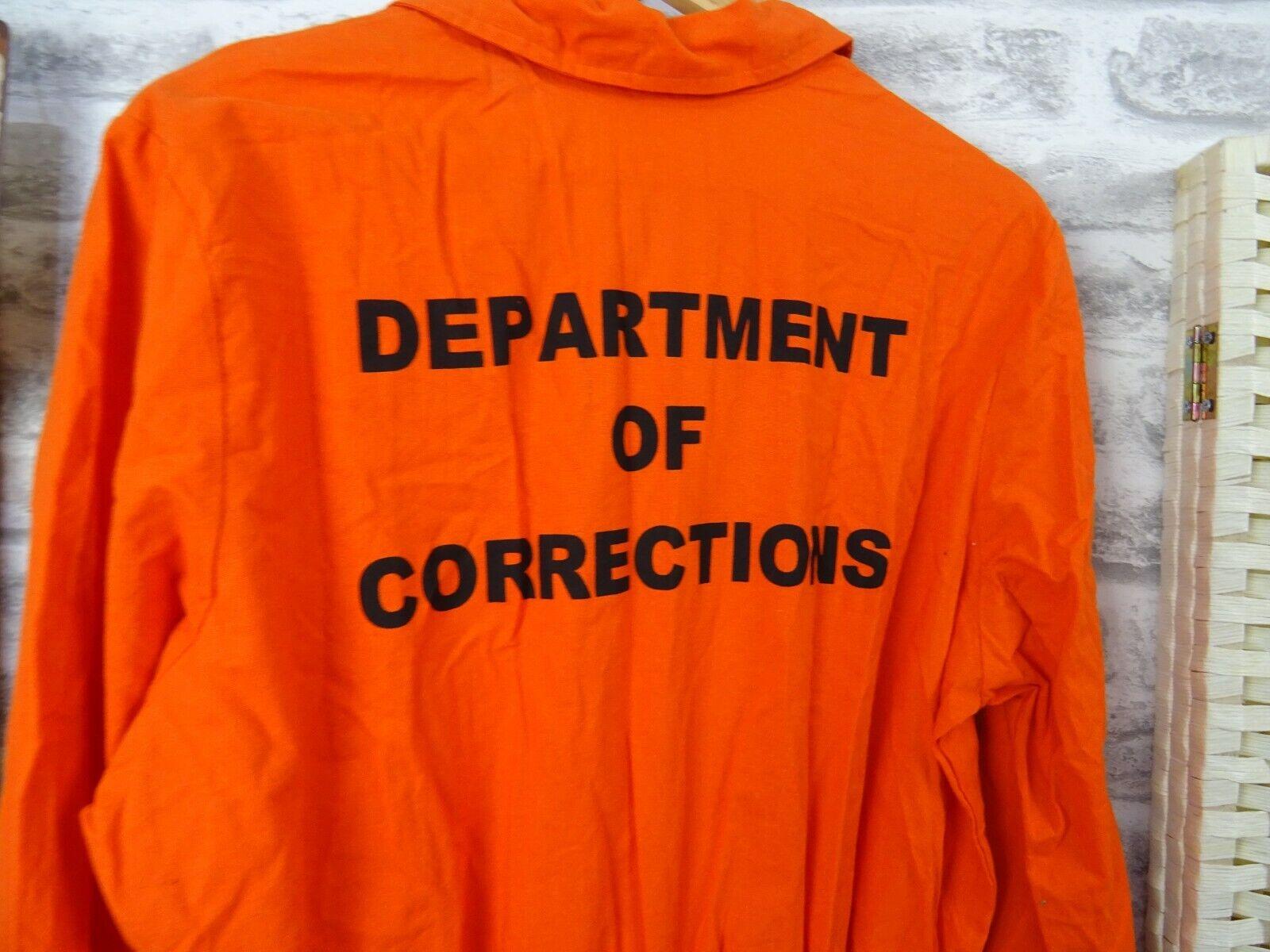 unisex CHARADES cosplay prison orange boiler suit cotton dress up size S TR64