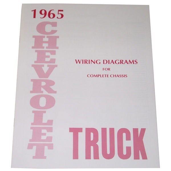 1965 Wiring Diagrams Booklet Chevrolet Pickup Truck