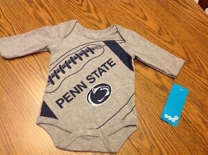c50f1cb92 NWT NCAA Penn State Nittany Lions Long Sleeve Gray Creeper Bodysuit ...