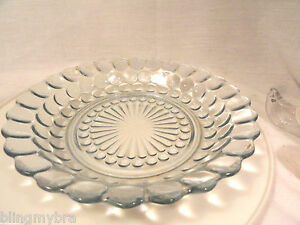 Blue-Bubble-Depression-Glass-7-3-4-034-Coupe-Low-Soup-Bowl