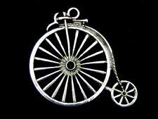 2 Pcs-Grandes De Plata Tibetana Vintage Penny Fathing Colgantes 50mm Bicicleta Z280