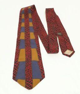 Vitaliano-Pancaldi-Red-Black-Mesh-Blue-Gold-Trapezoids-Silk-Luxury-Tie-54-034