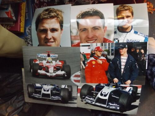 "COLLECTION OF 7 x 12"" x 8"" RALF SCHUMACHER F1 PHOTO PRINTS WILLIAMS TOYOTA"