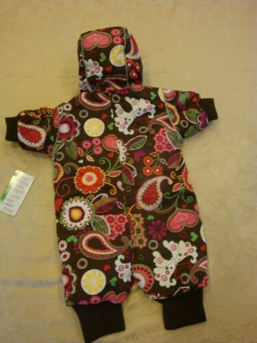 NWT Hanna Andersson 60 2-6 Months Journeys End Snowsuit Brown