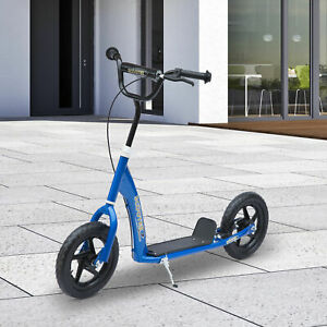 Adjustable-Kids-Stunt-Scooter-Children-Street-Bike-Ride-On-w-12-Tire-Blue